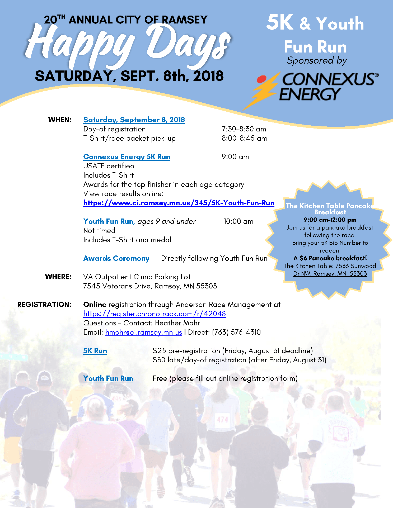 2018 5K Registration Flyer