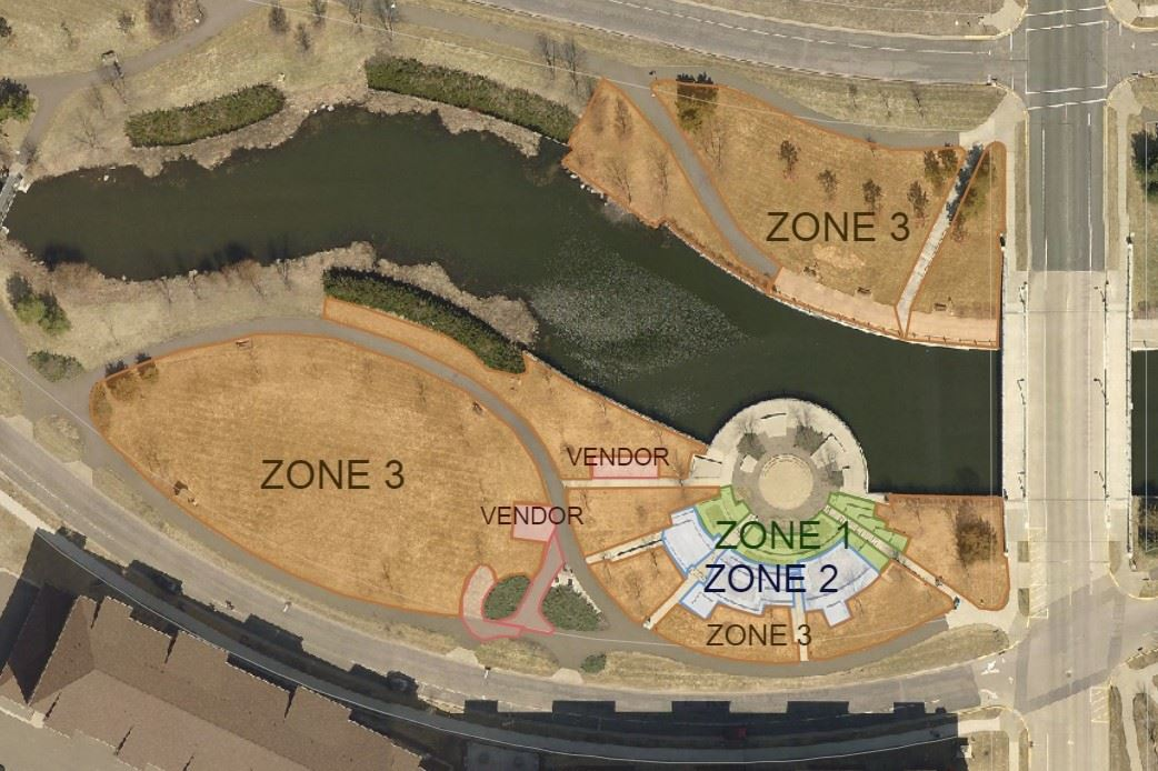 Concert Series Layout Zones